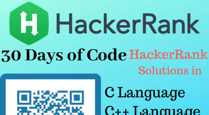 30 Days of Code Solutions HackerRank