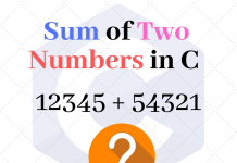 Two Numbers Sum