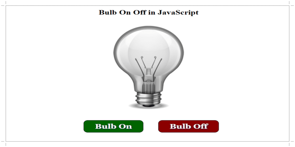 Bulb Off Initially Stage