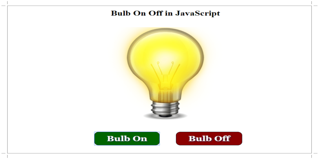 Bulb On after Click on Button