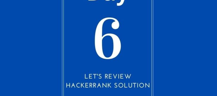 let's review hackerrank solution